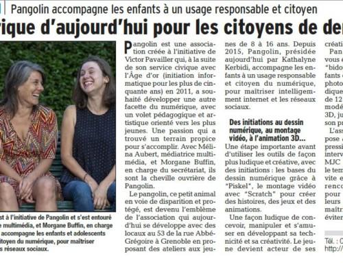 [Evènement] La presse locale parle de PANGOLIN…